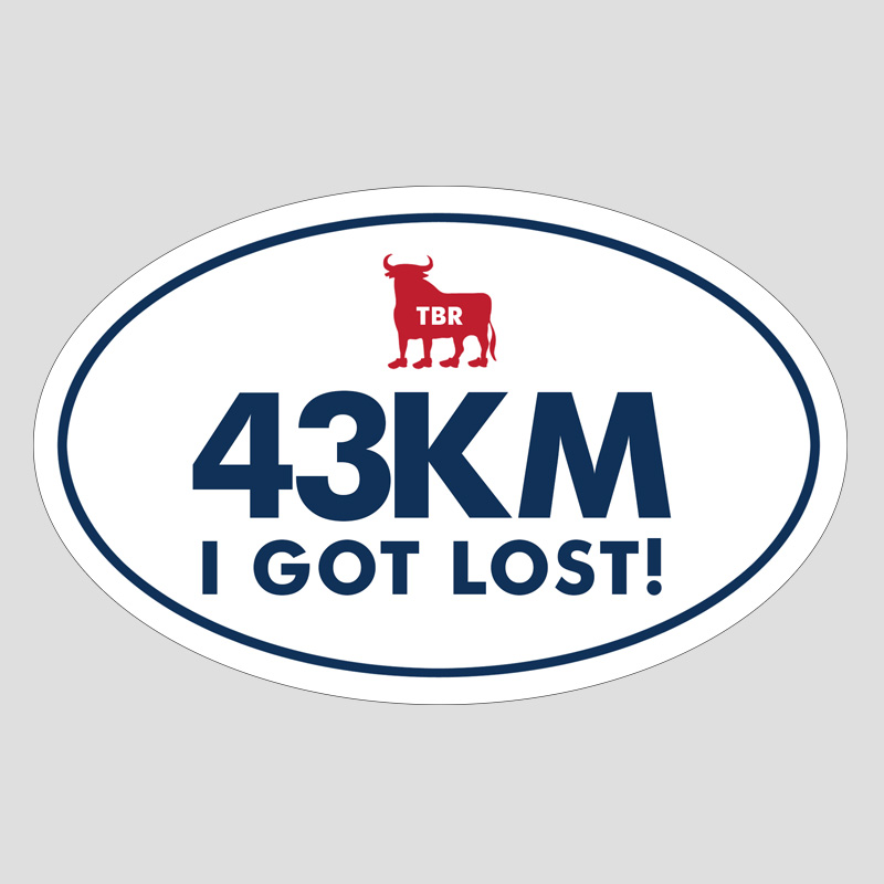 TBR Bumper Sticker - 43K I Got Lost